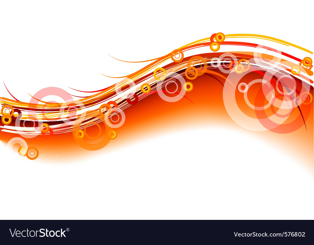 Red wavy background on white vector image