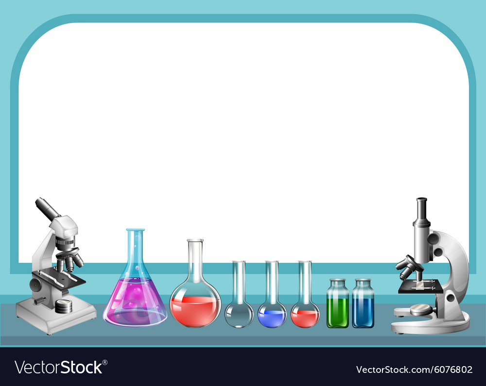 Science tool and frame Royalty Free Vector Image