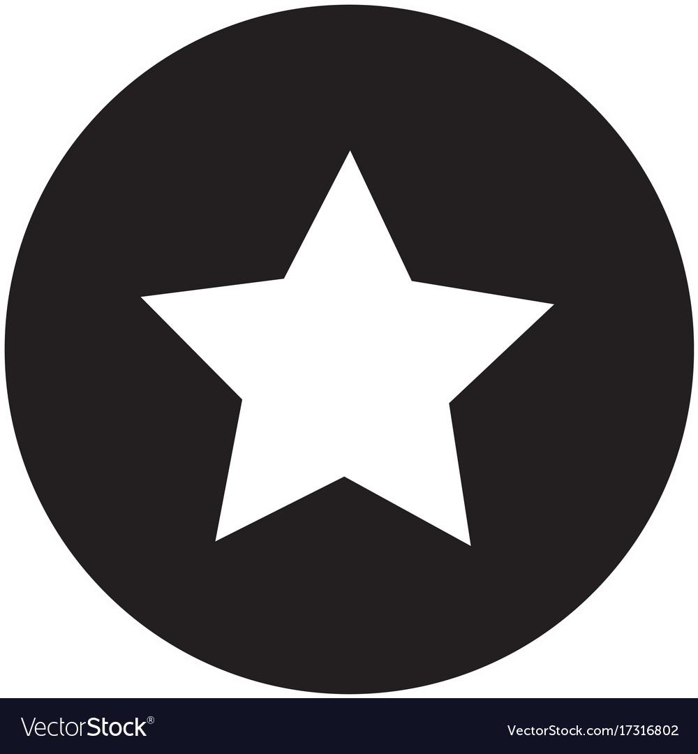 Star icon on white background flat design star