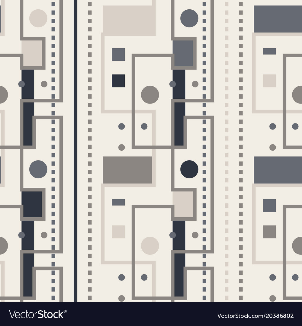 Streets and city lights seamless pattern vector image