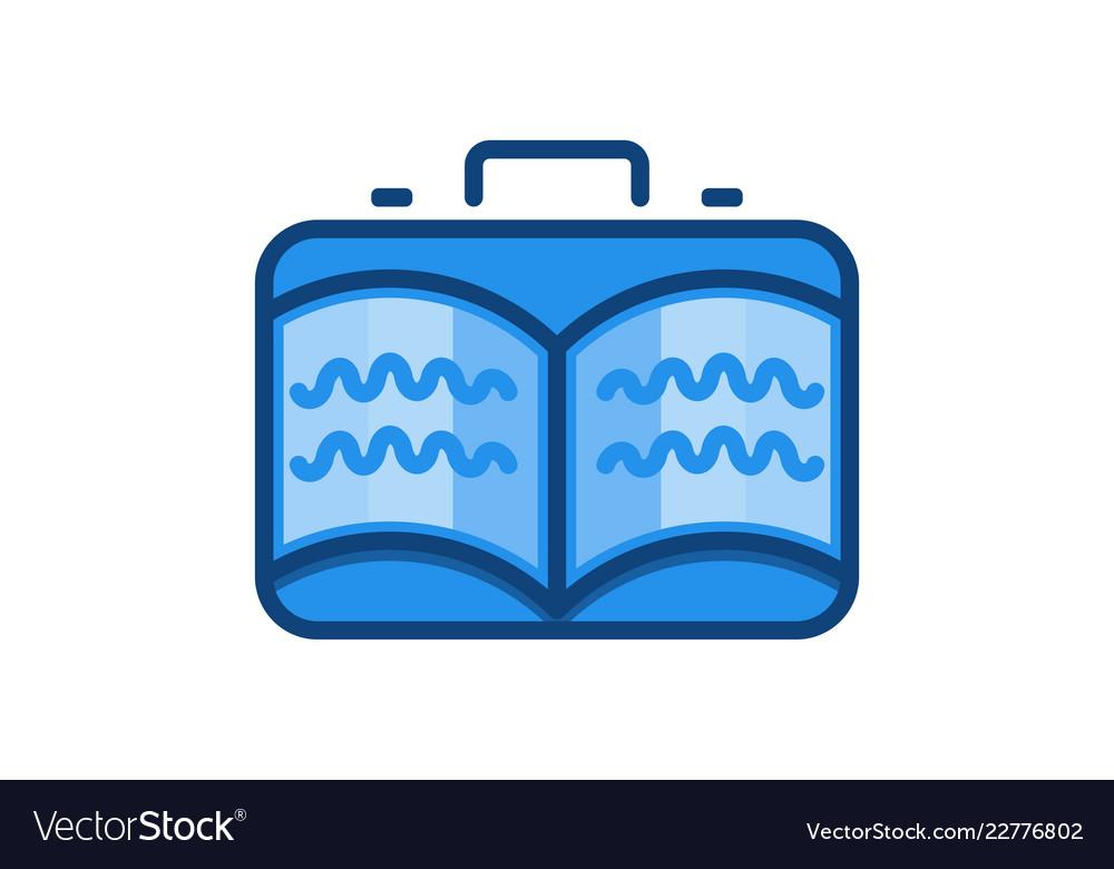 Travel bag and book logo designs inspiration