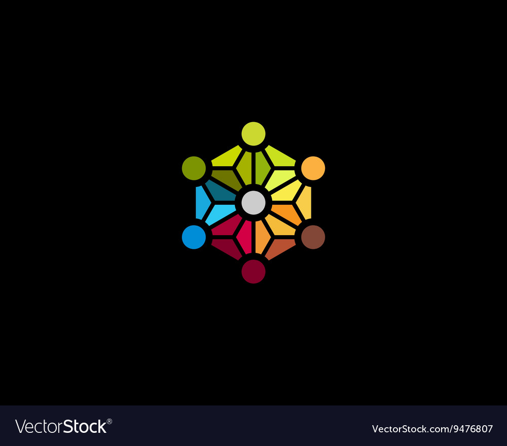 Abstract social media network biotechnology vector image