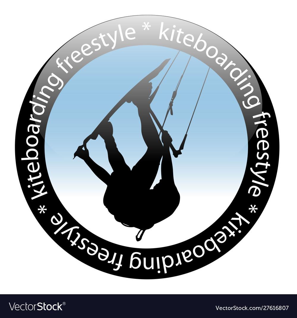 Extreme sport kiteboarding jump freestyle rider