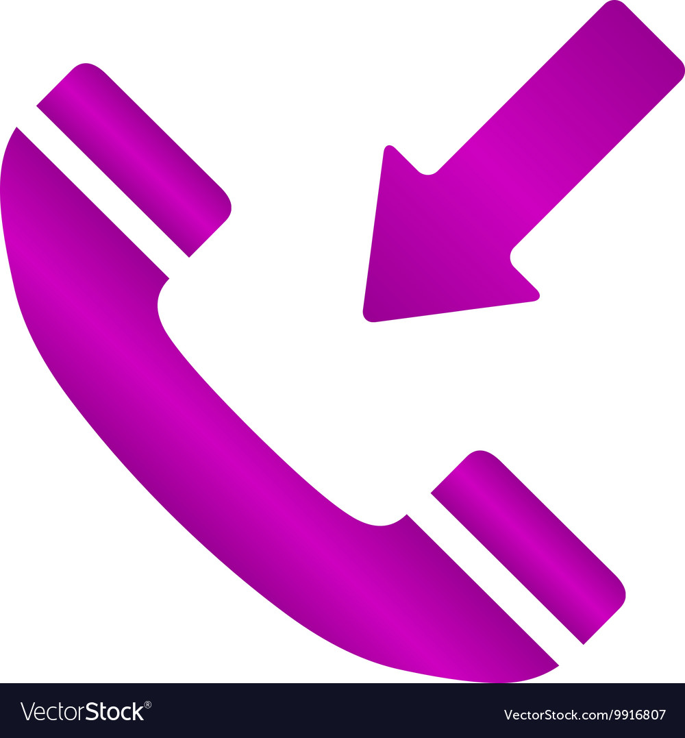 Flat icon of a phone vector image