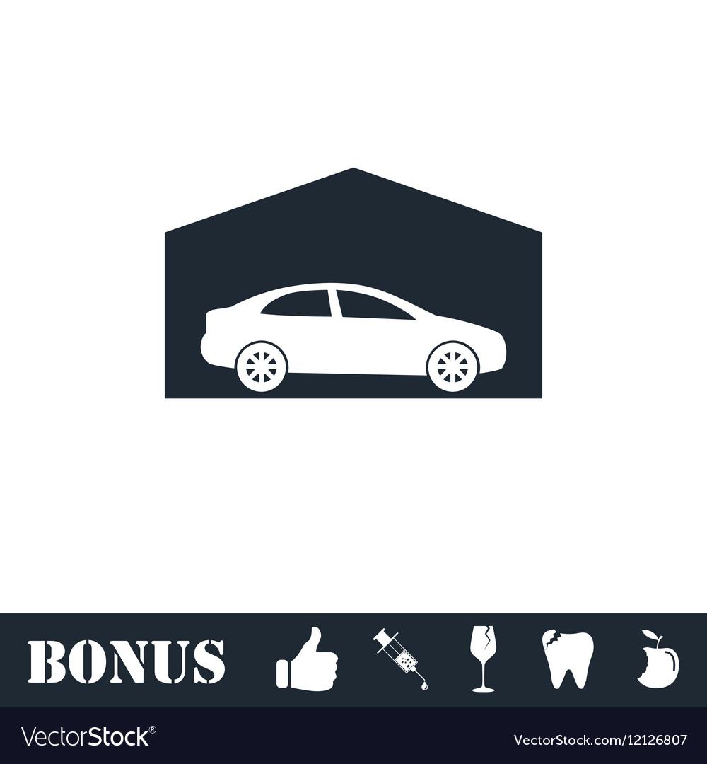 Garage icon flat
