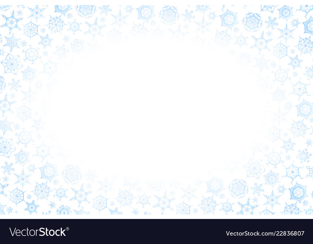 Horizontal christmas frame with lots of blue