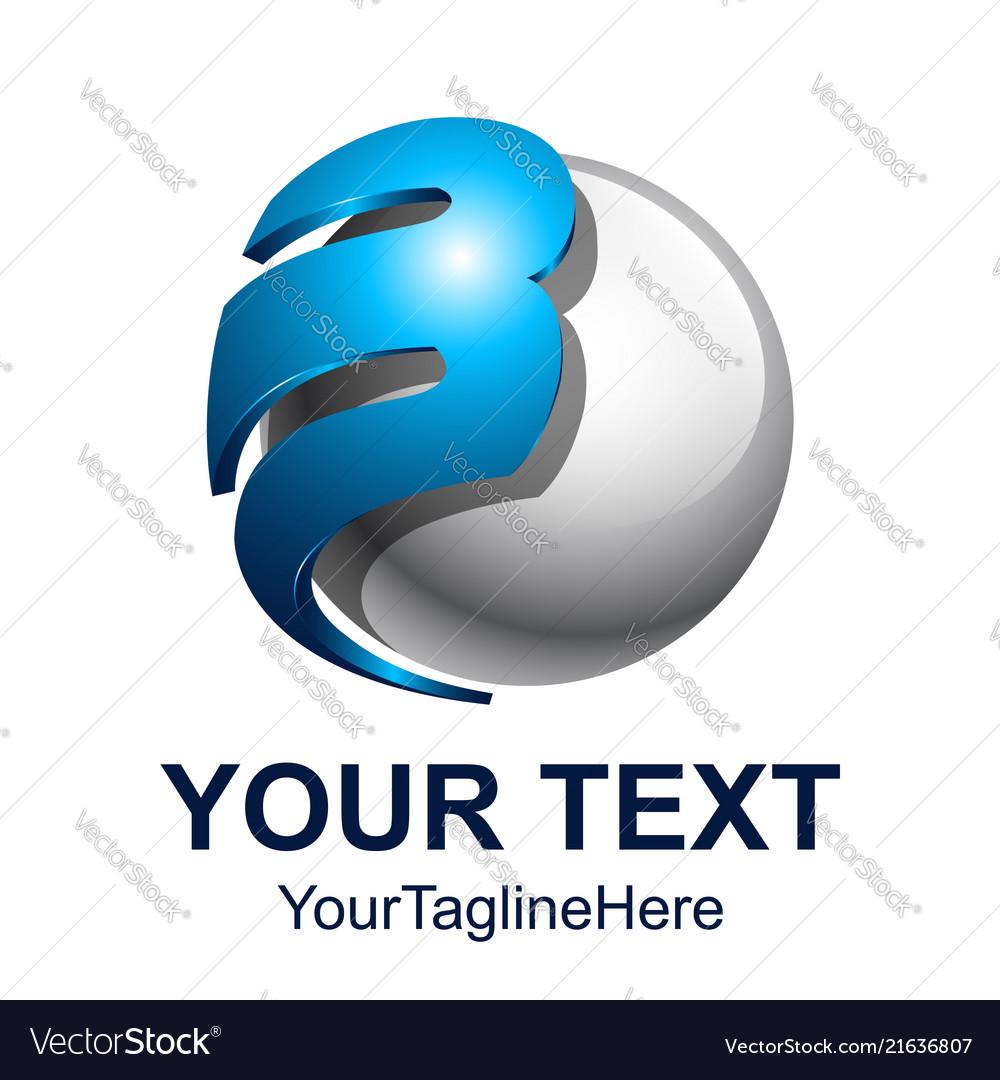 Initial letter b logo design template element