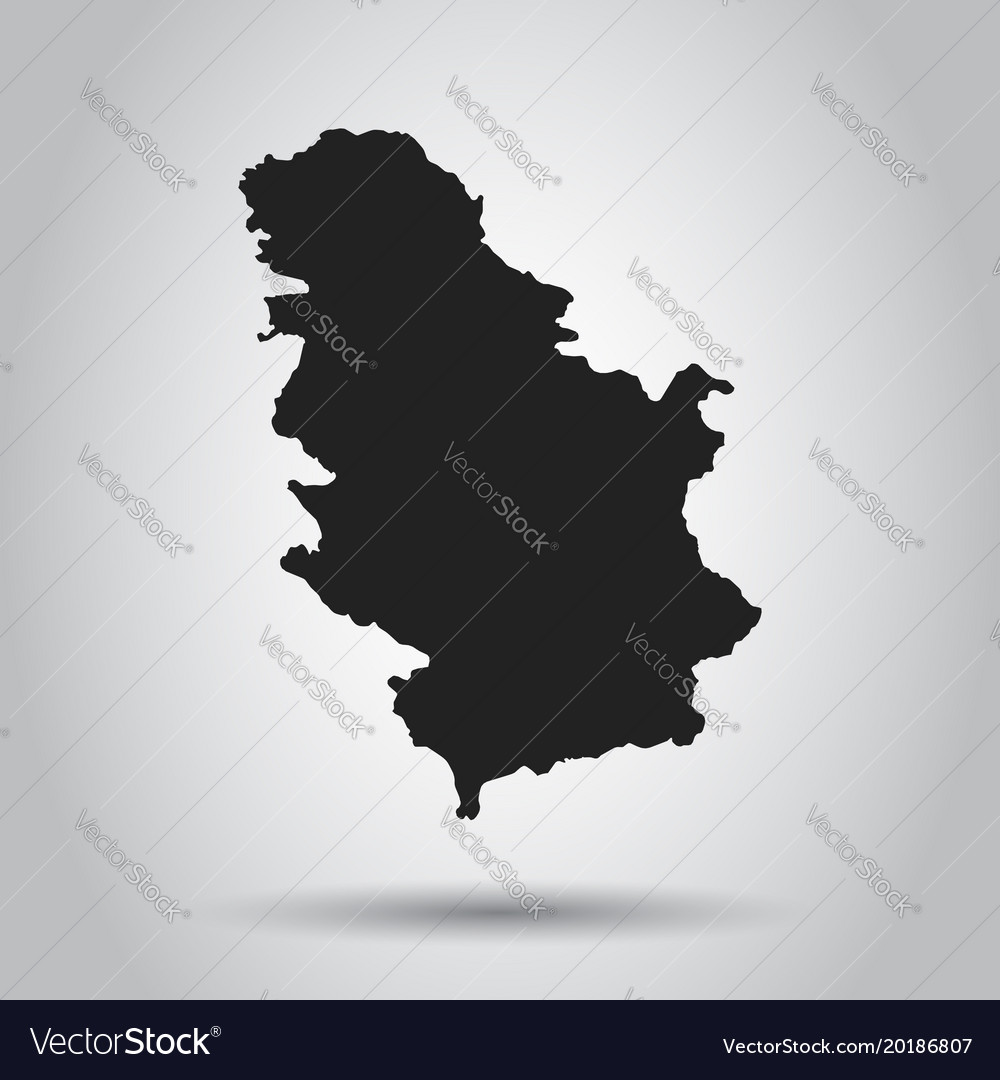 Serbia map black icon on white background vector image gumiabroncs Images