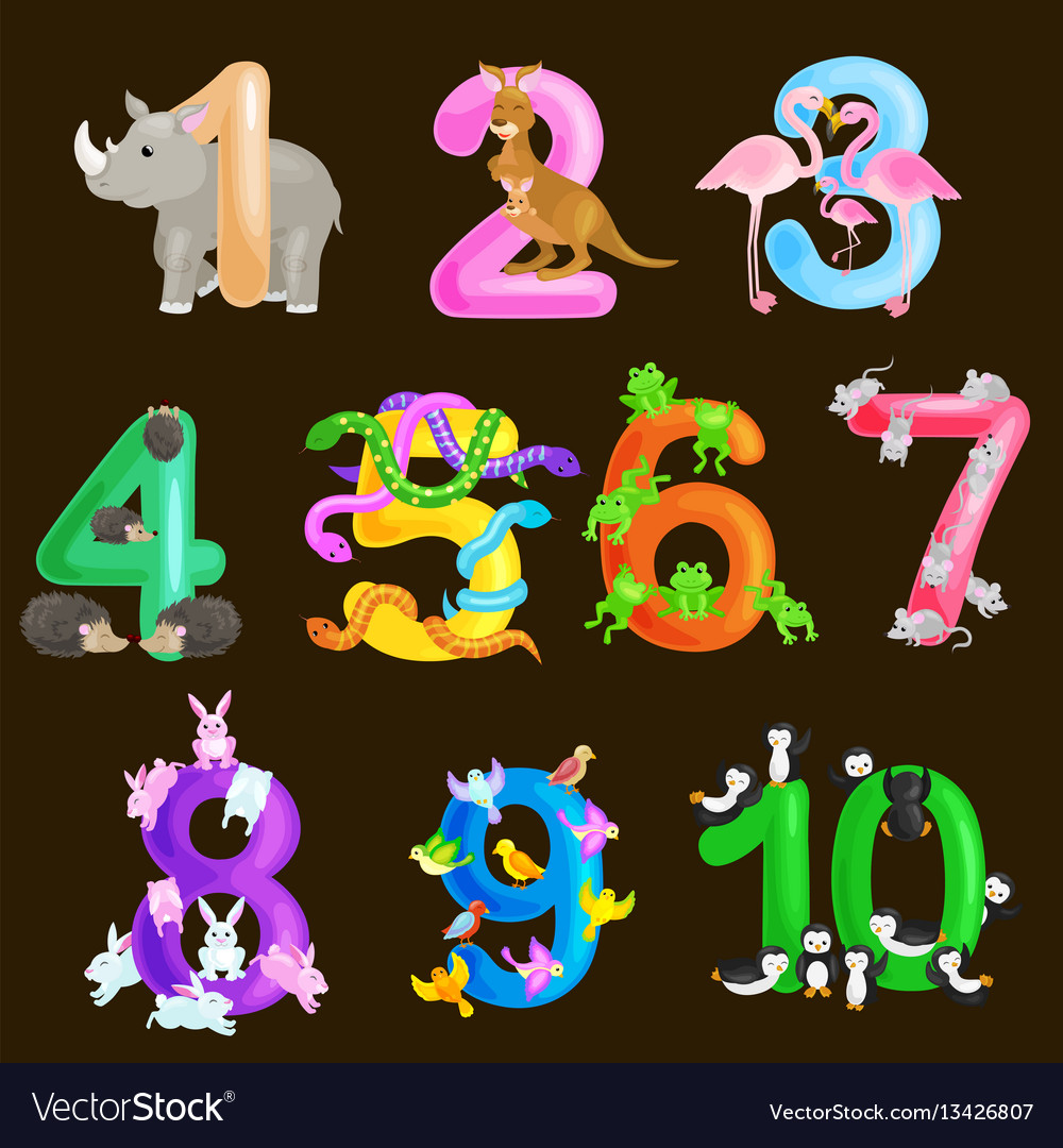 Set of ordinal numbers for teaching children
