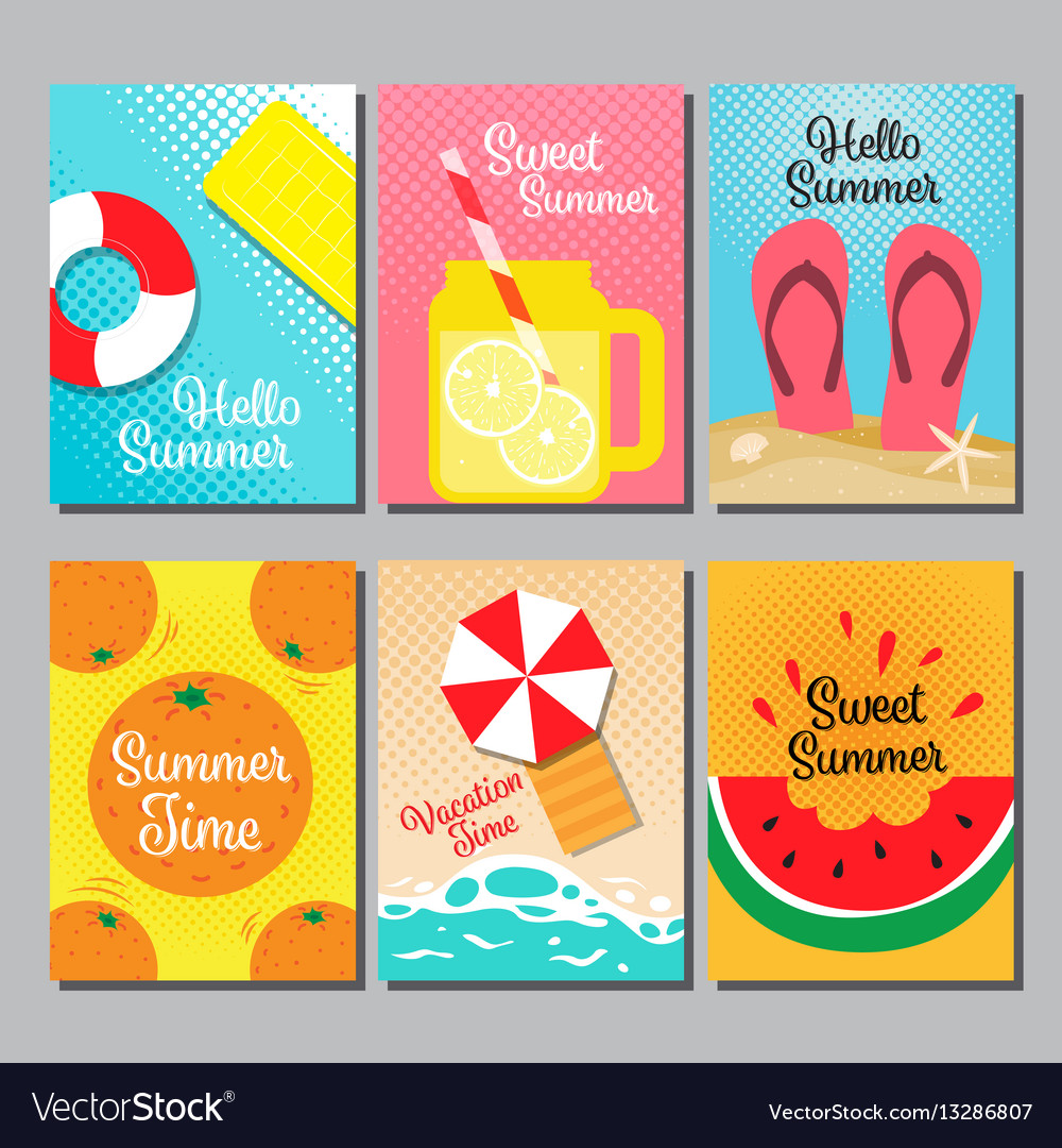 Summer layout design cover book banner card