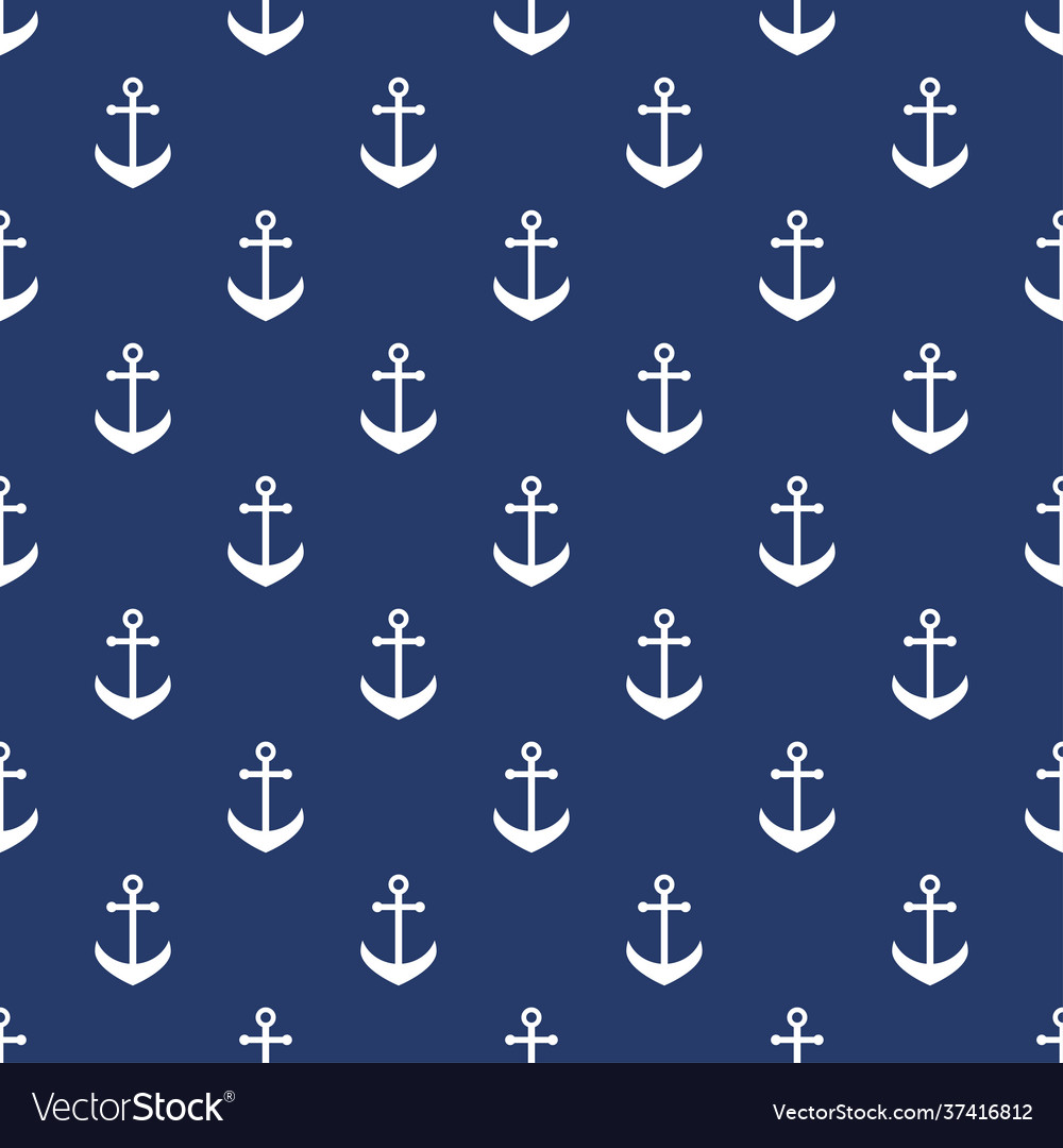 Background with white anchors