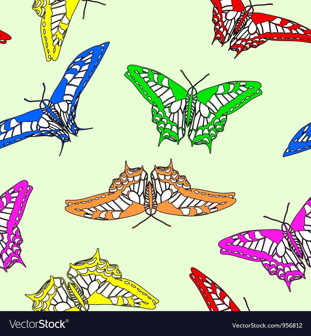 Butterflies seamless wallpaper
