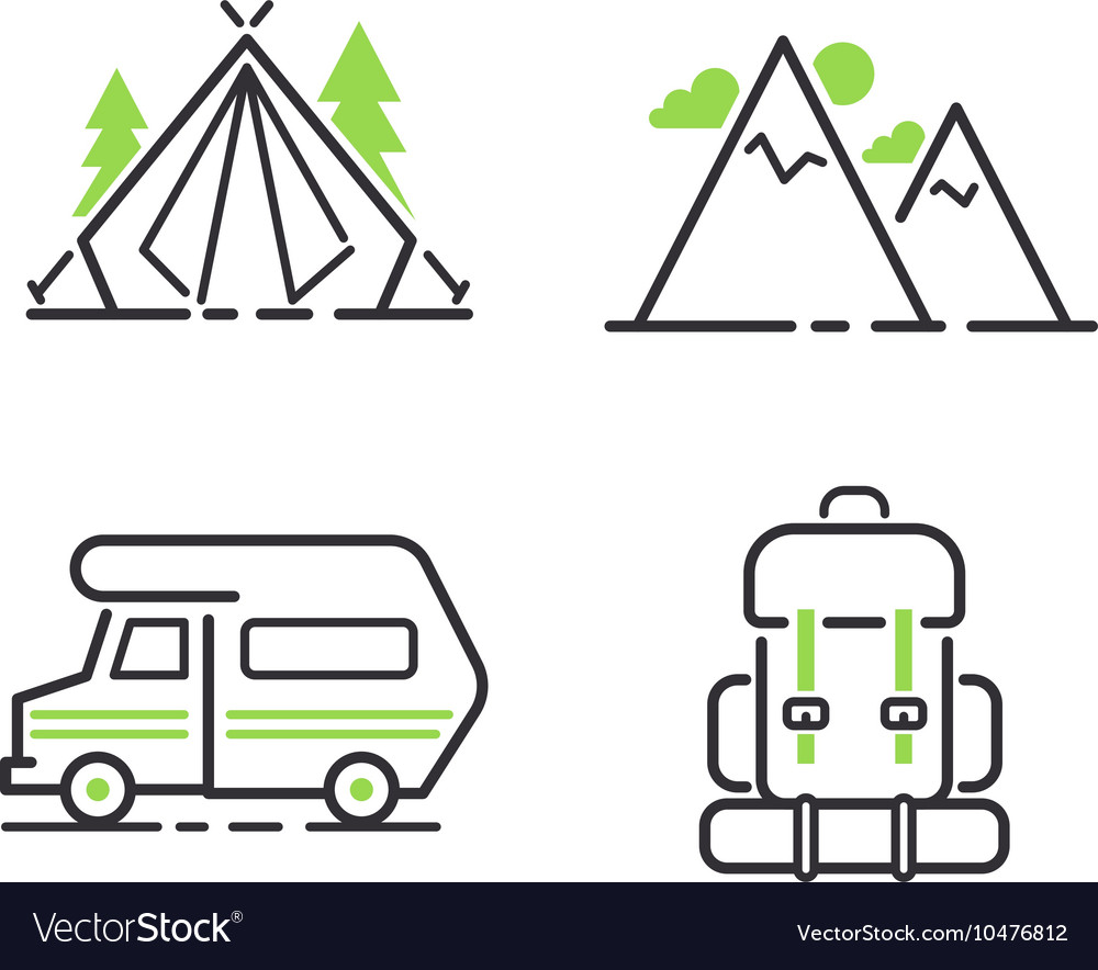 Camping icon isolated