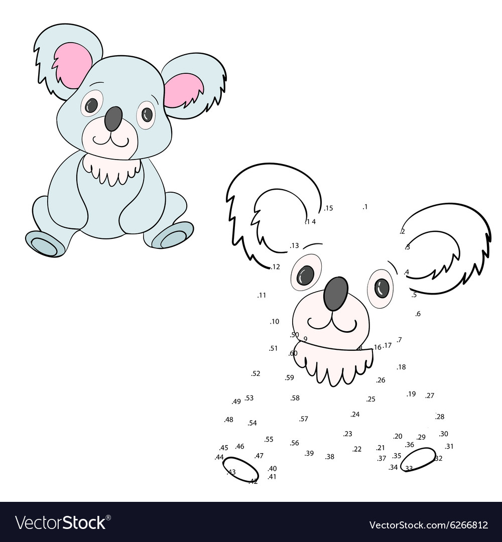 Connect the dots game koala