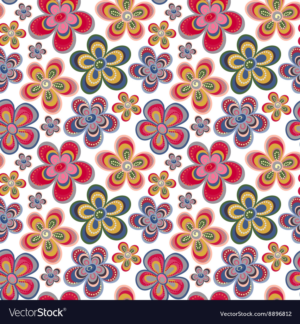 Decorative stylish spring seamless floral pattern vector image