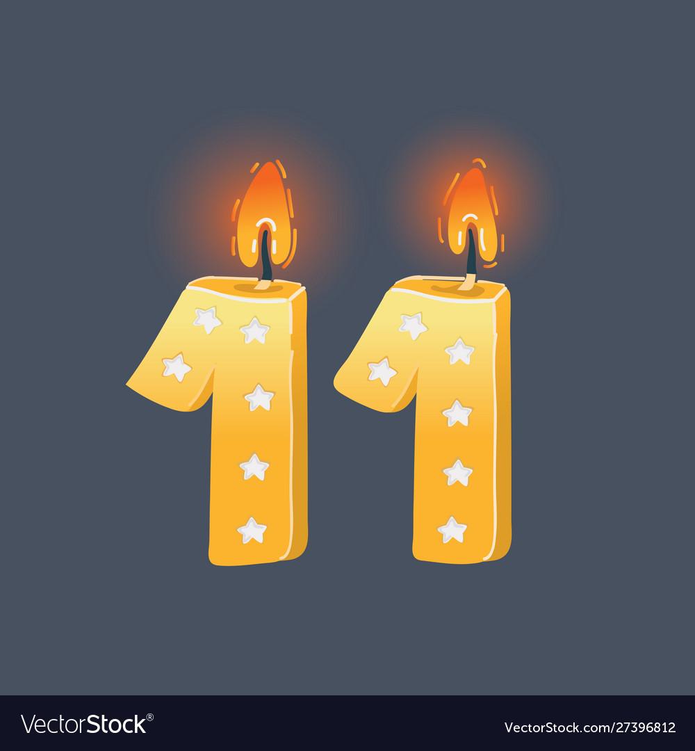 Eleven birthday cards on dark