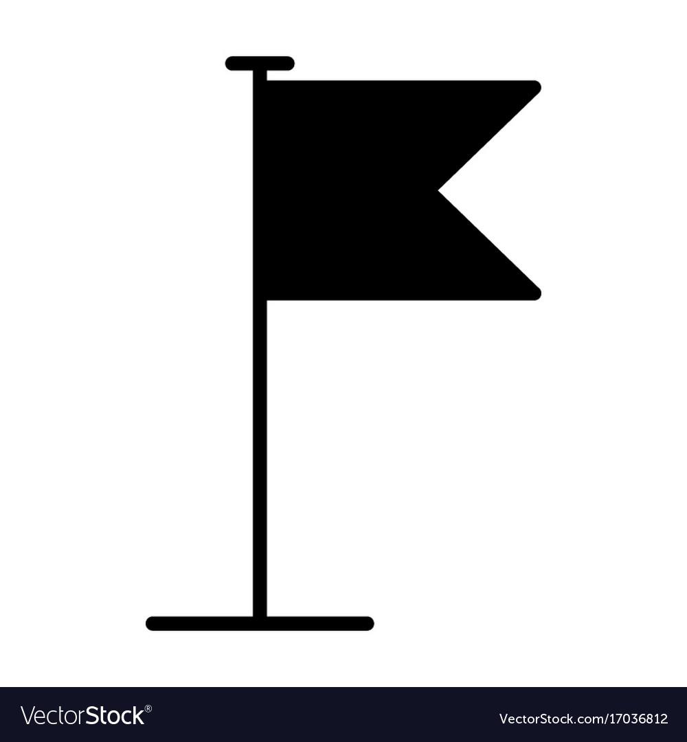 Flag icon flat design pictogram