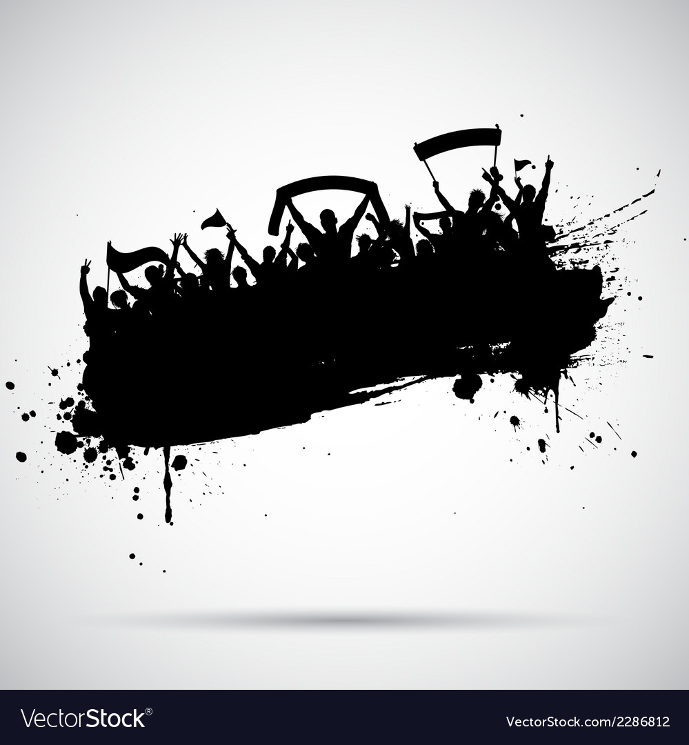 Grunge football crowd vector image