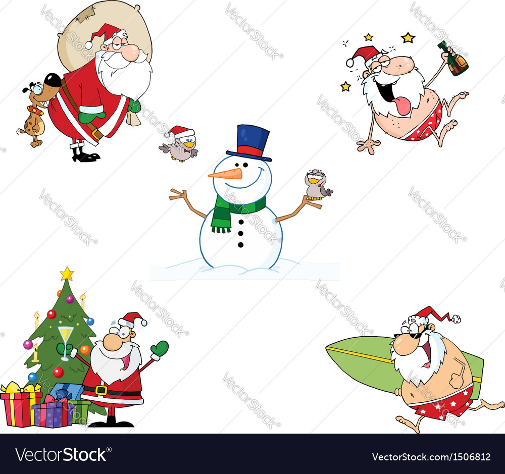 Holidays Cartoon Characters- Collection