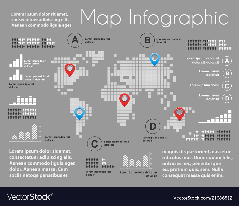 Infographics of map scheme