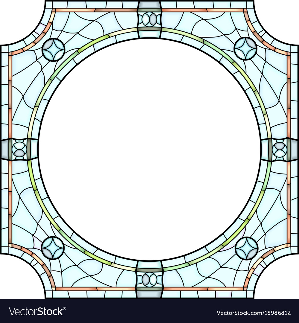 stained glass window frame for photography vector image