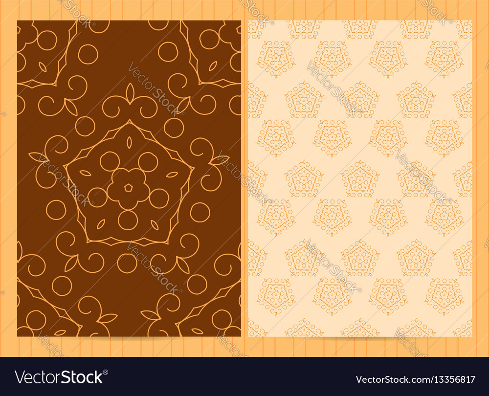 A4 format cards in golden colors template in