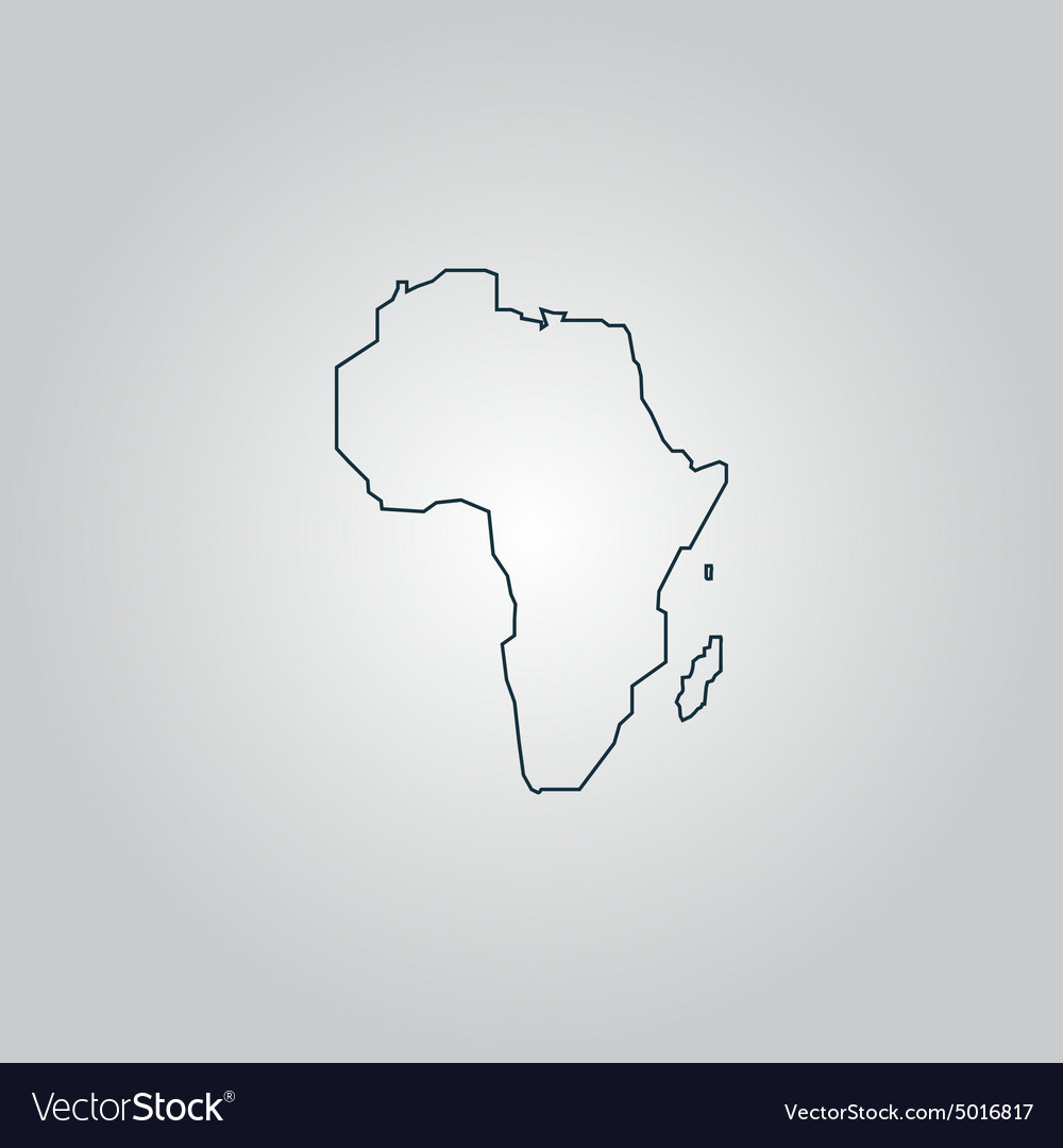 Africa Map - icon isolated
