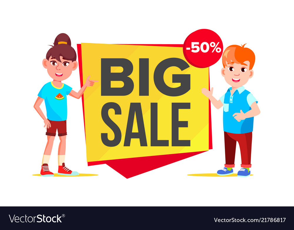 Big sale banner school children pupil