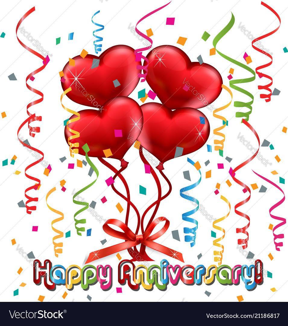 happy anniversary card vector image - Happy Anniversary Cards