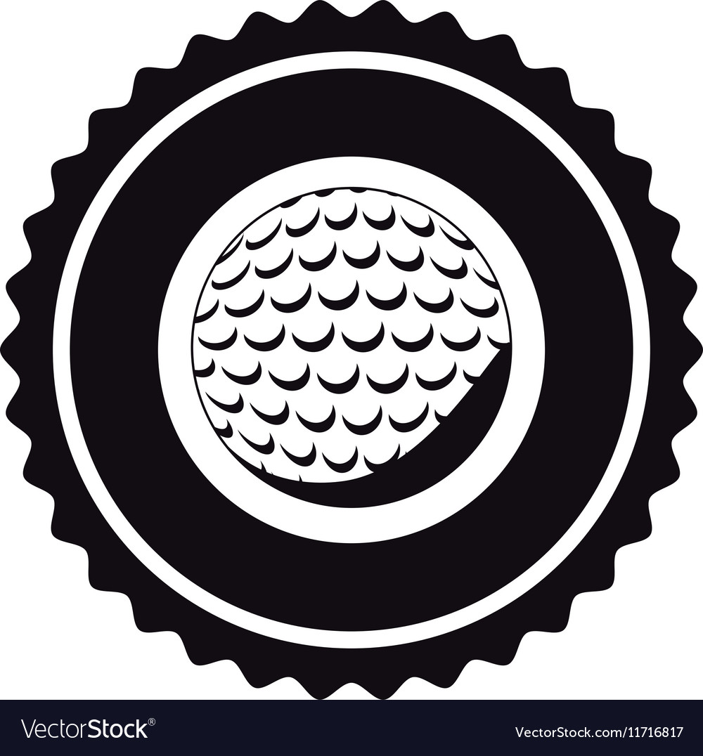 isolated ball of golf design royalty free vector image