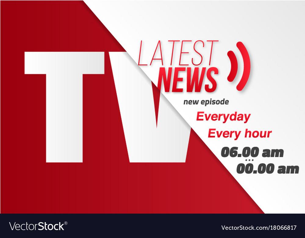 news banner template news opener broadcast design vector image