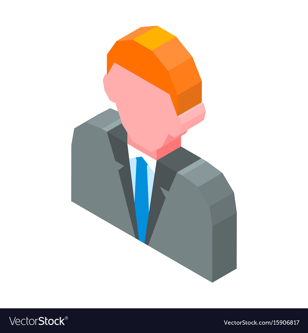Person avatar 3d icon isolated