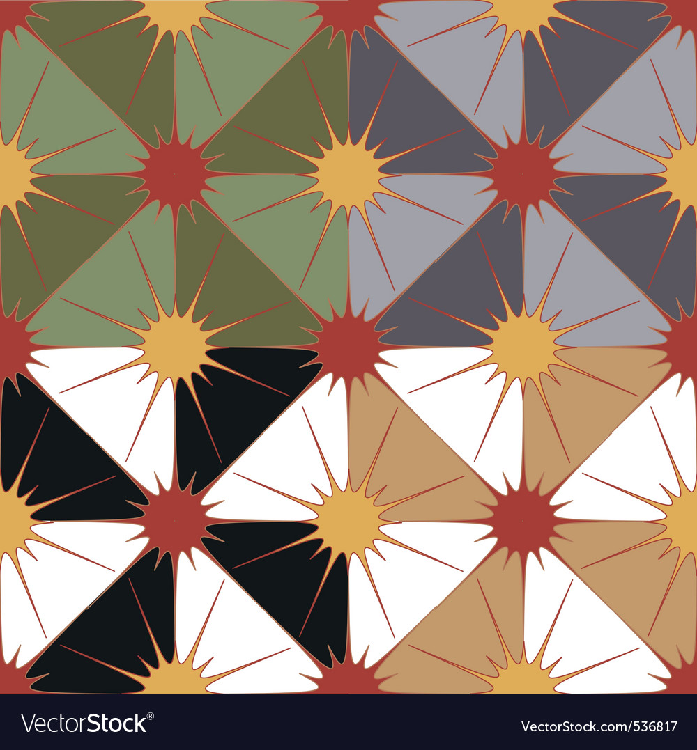Seamless geometric background in 4 color options