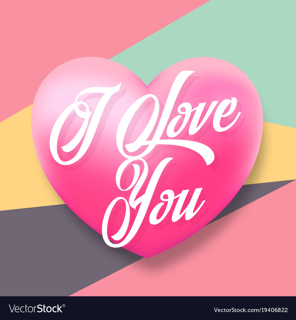 Gentle Typography Valentines Day Greetings Vector Image