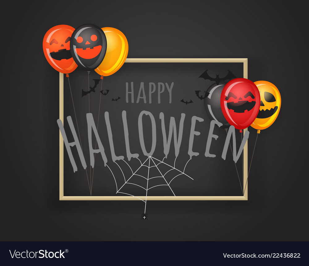 Happy halloween greeting card halloween party