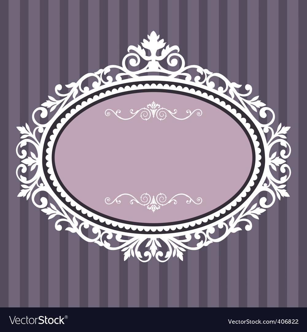 Oval vintage frame