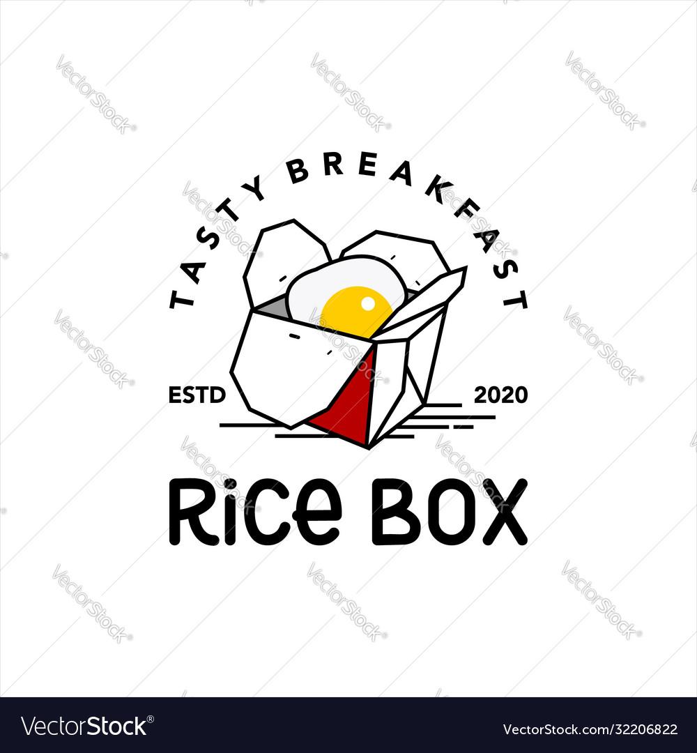 Rice box logo stamp food label