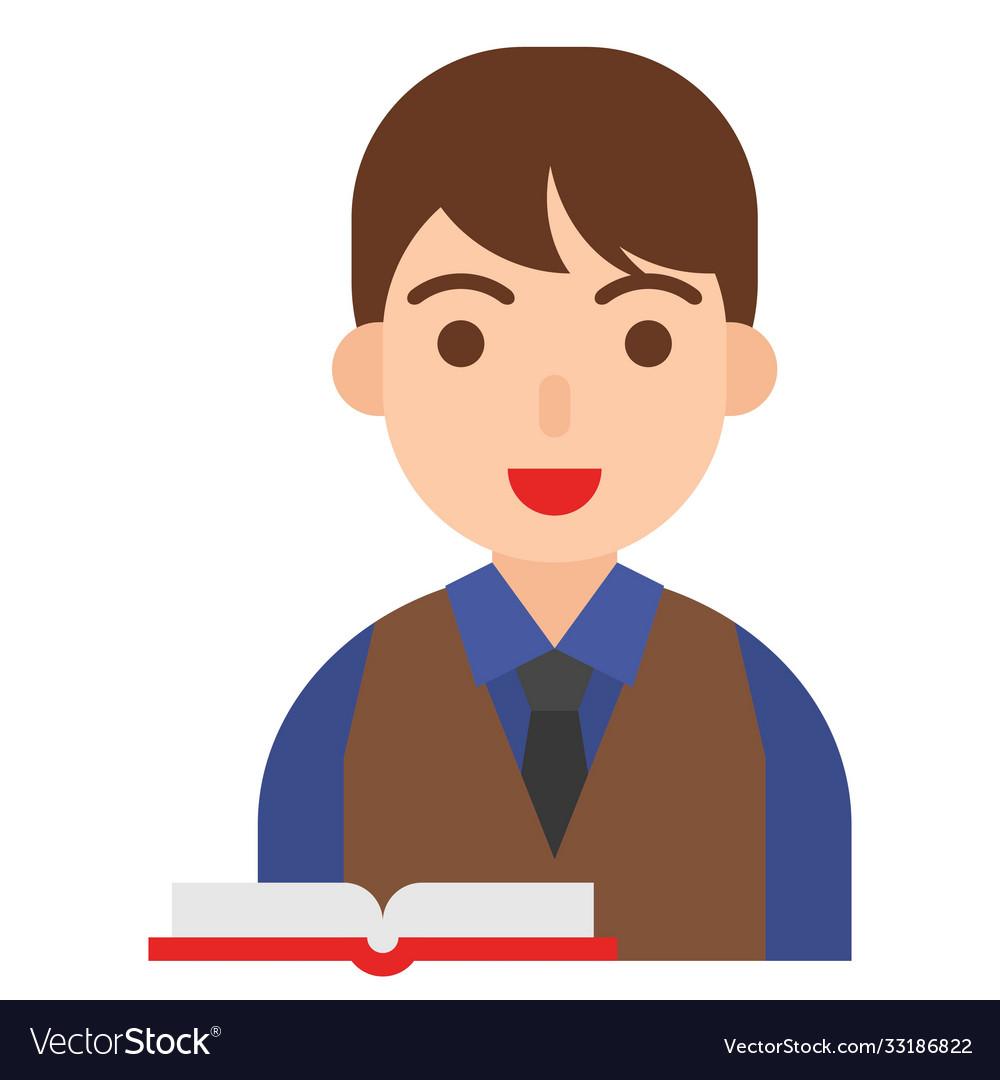 Scholar icon profession and job