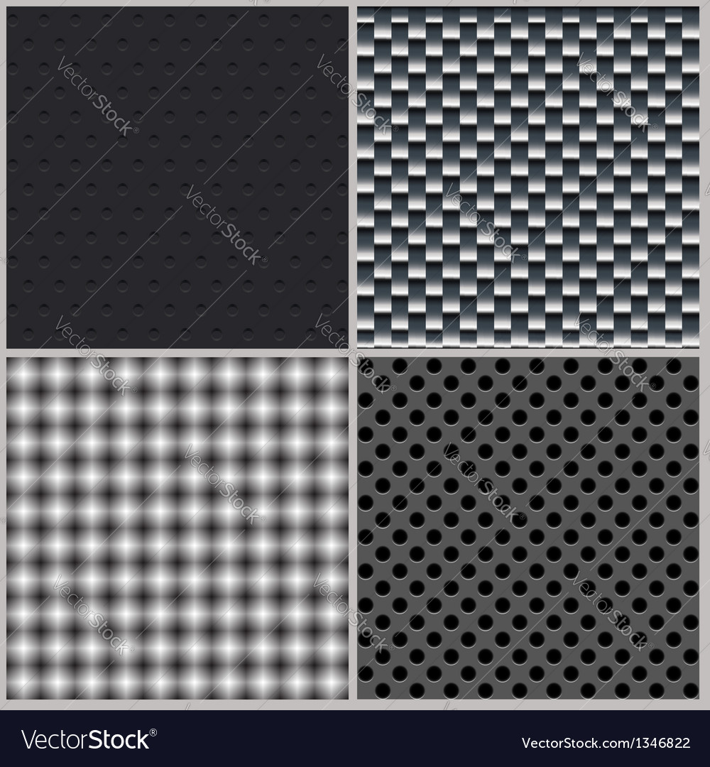 Set of four backgrounds Abstract dotted and metal