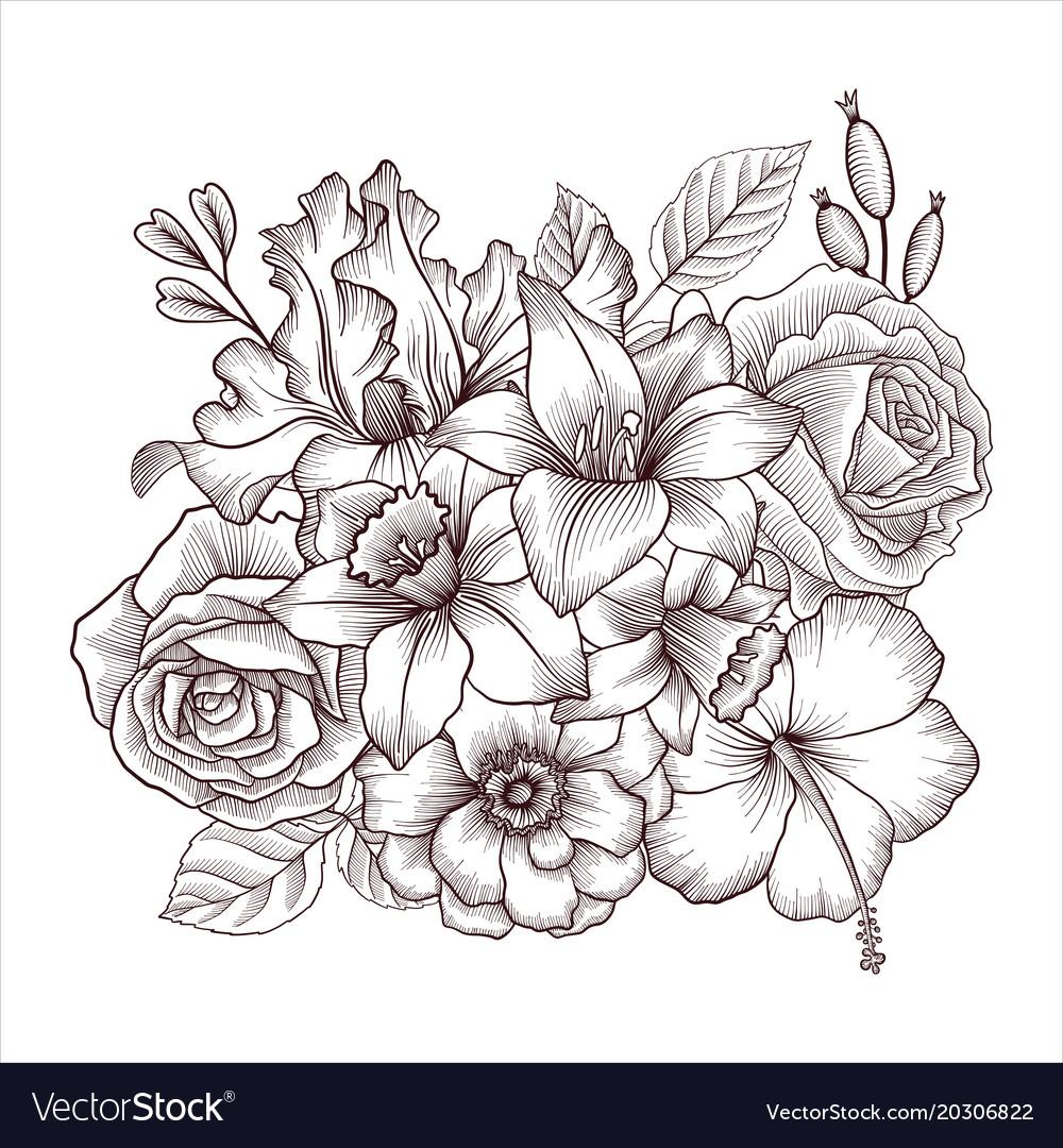 Vintage floral composition