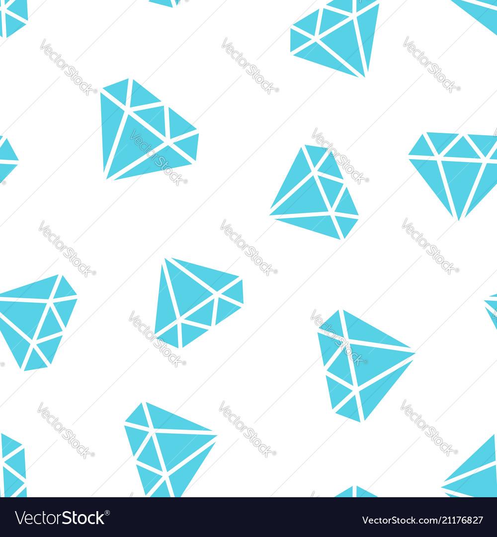 Diamond jewel gem icon seamless pattern