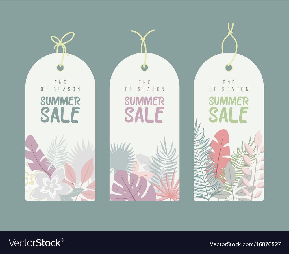 End of season summer hand drawn calligraphyc sale vector image