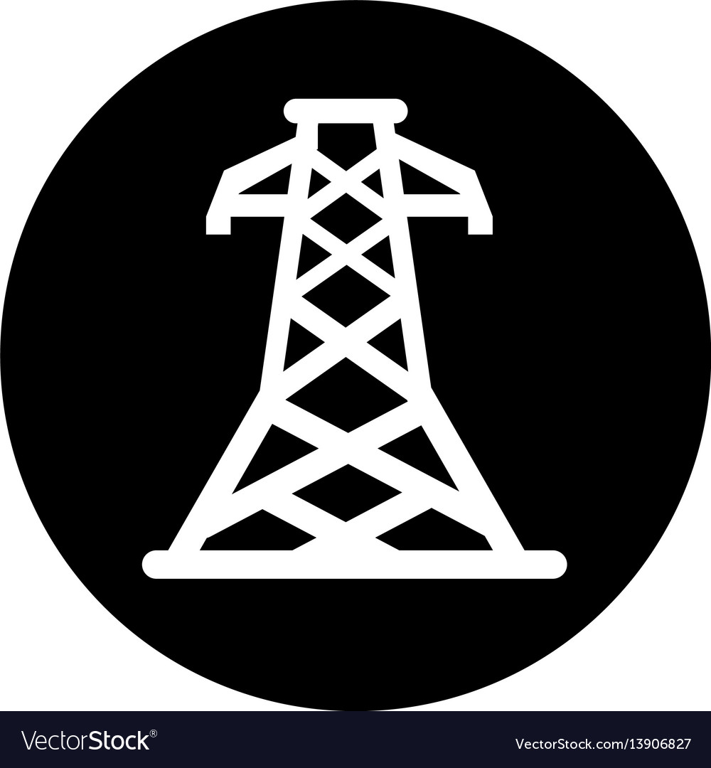 Energy tower isolated icon