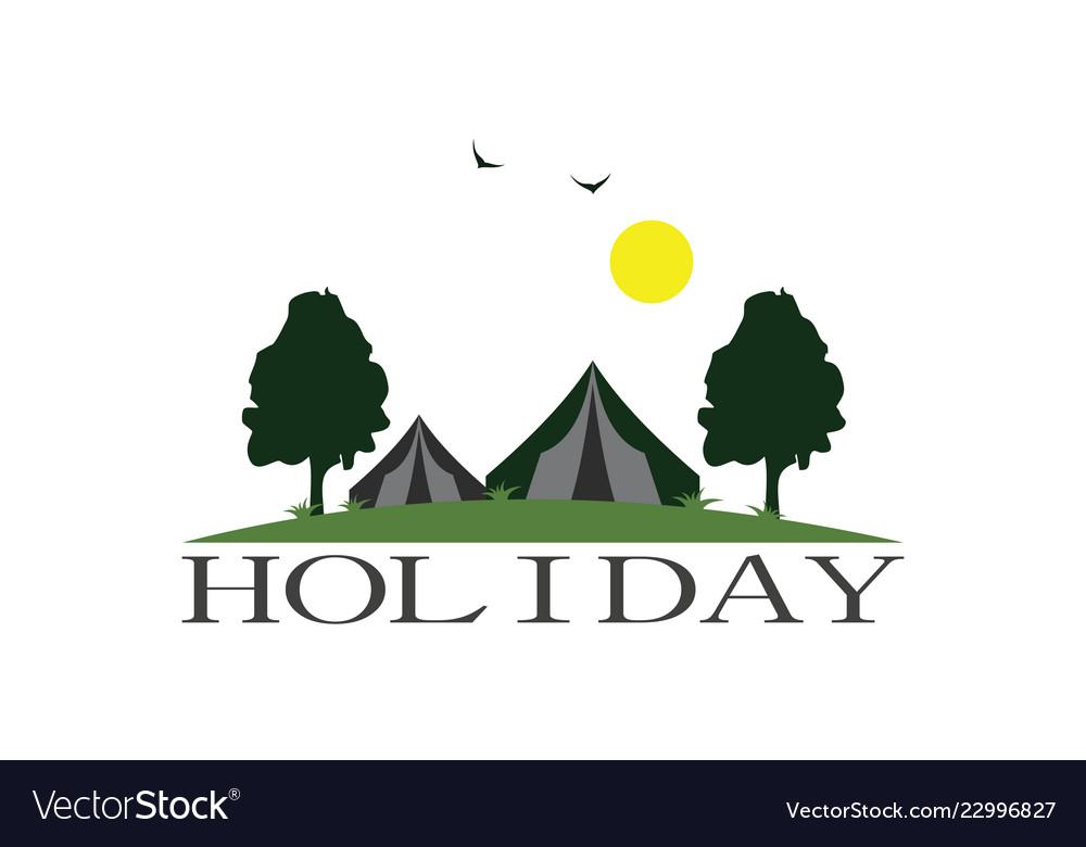 Holiday camp garden logo