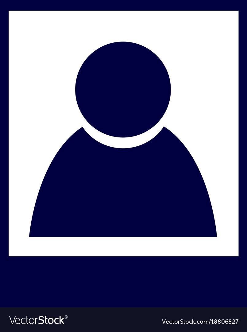 Isolated profile icon