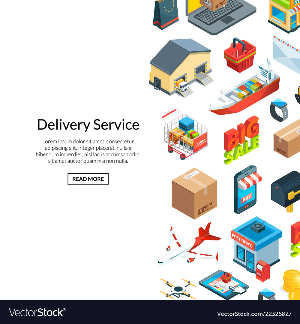 Isometric logistics and delivery icons