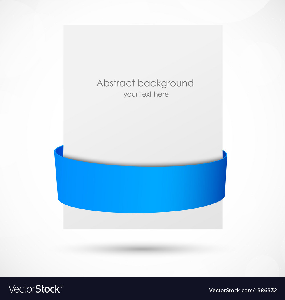 Abstract banner with blue ribbon