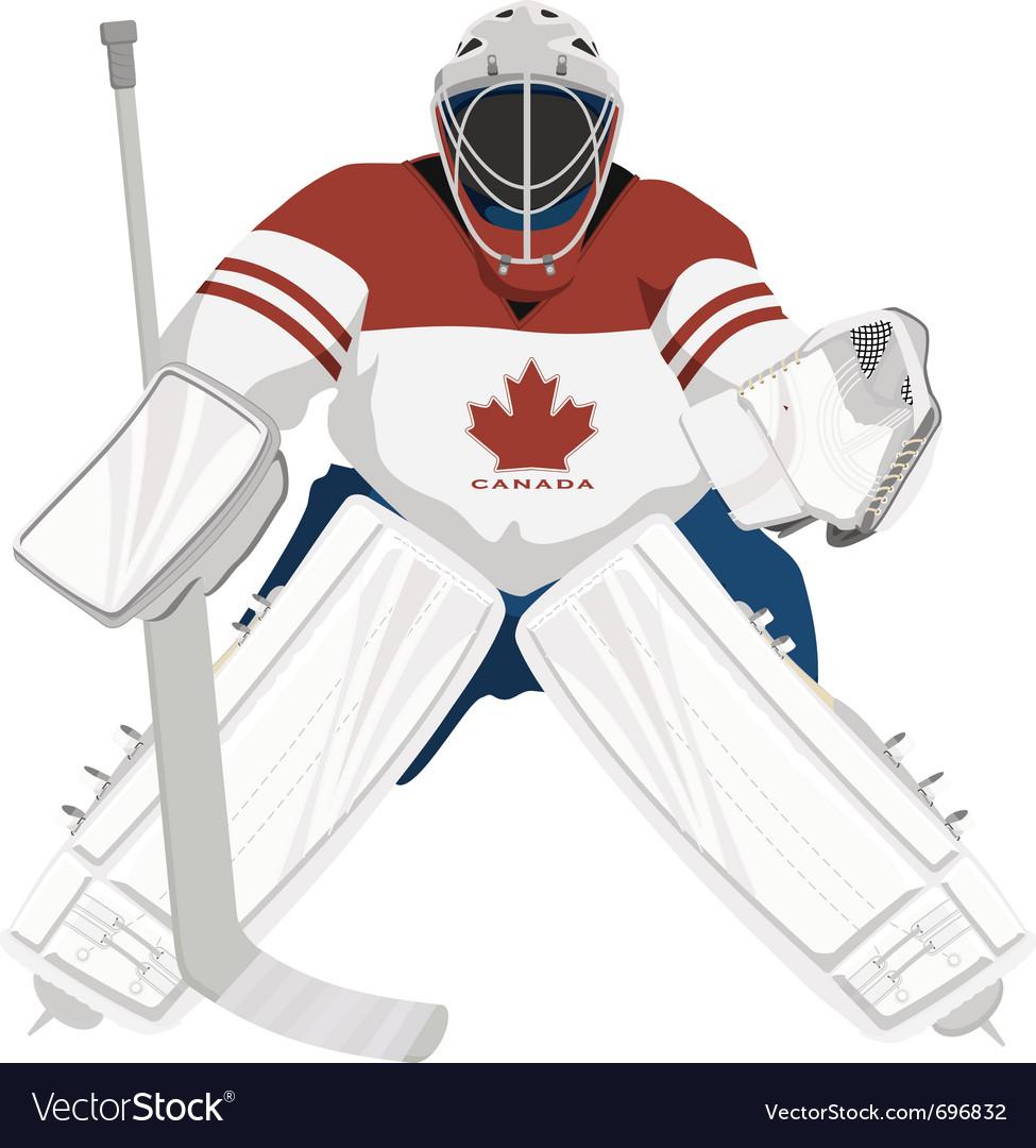 Canada hockey goalie vector image