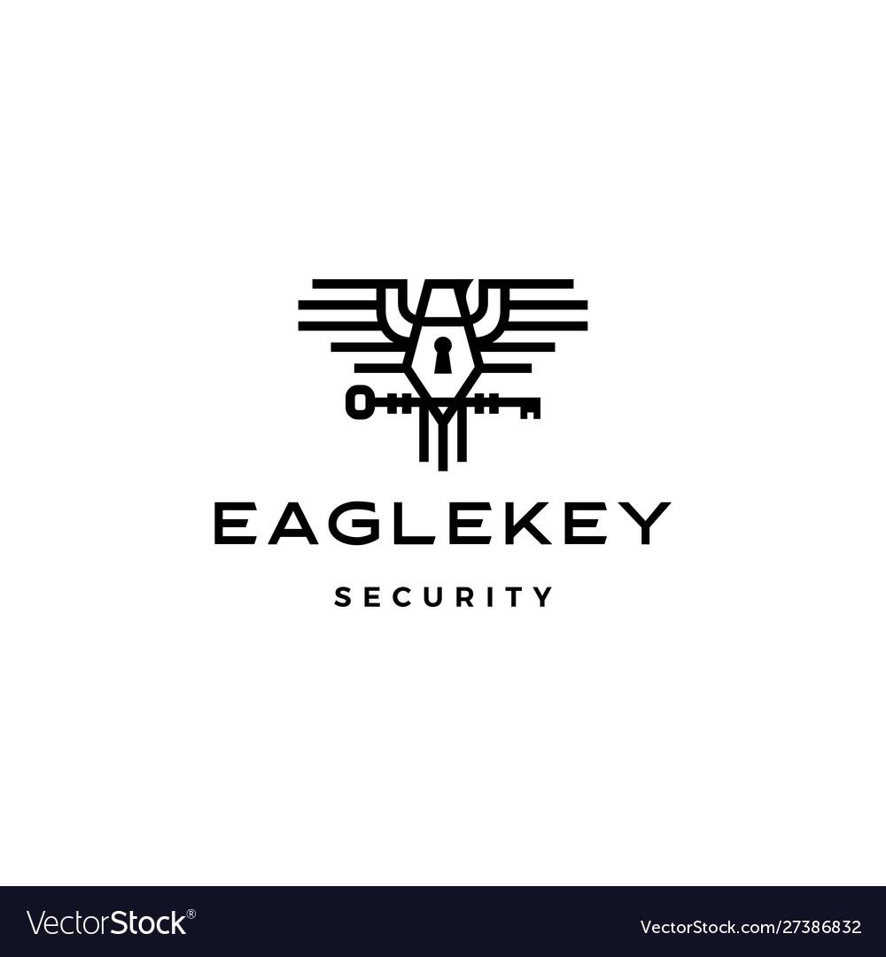 Eagle key bird logo icon