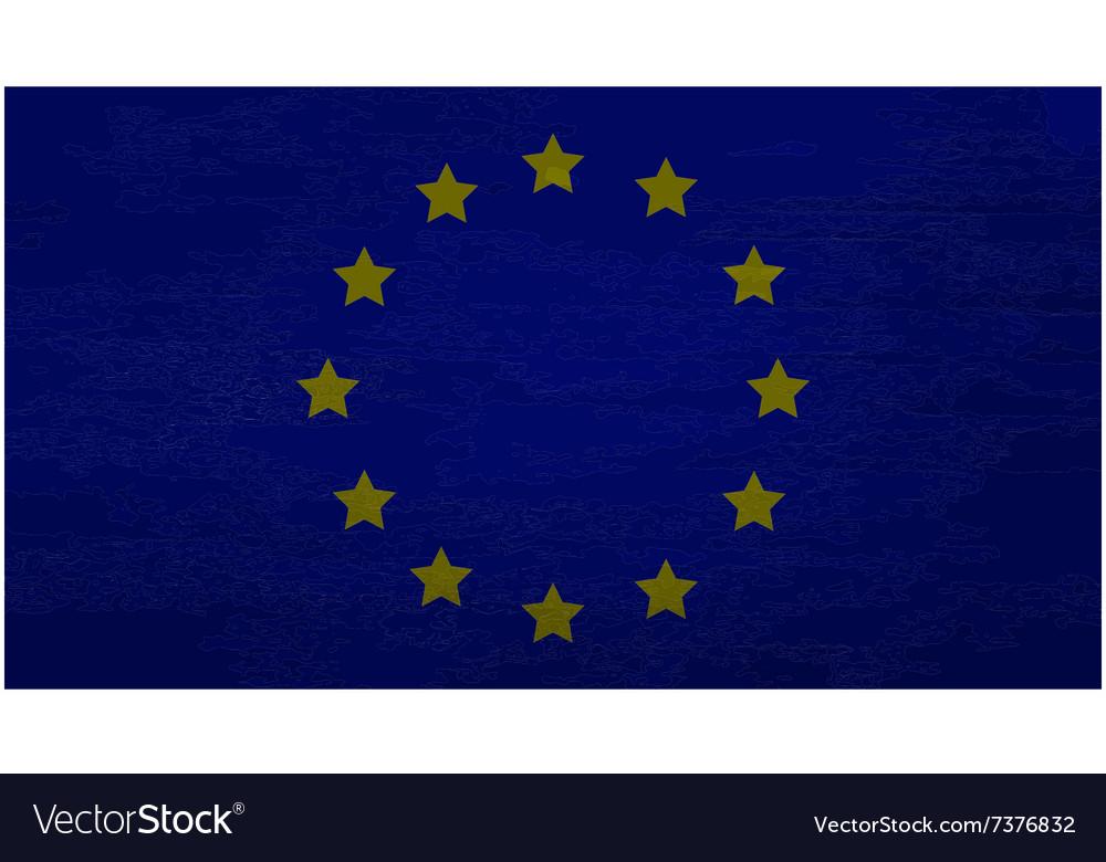EU flag dirty vector image
